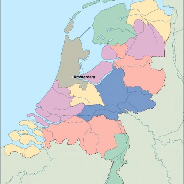 netherlands vector map