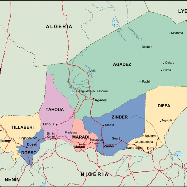 niger political map