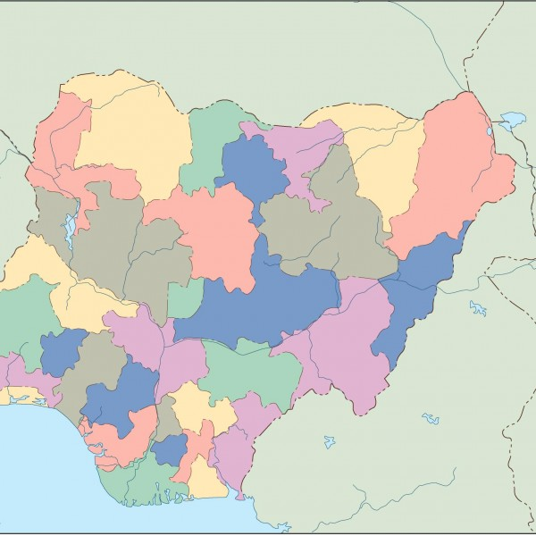 nigeria blind map