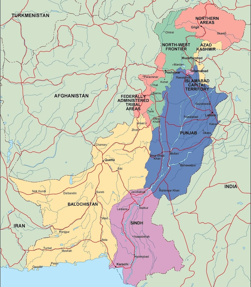 pakistan political map | Order and download pakistan political map