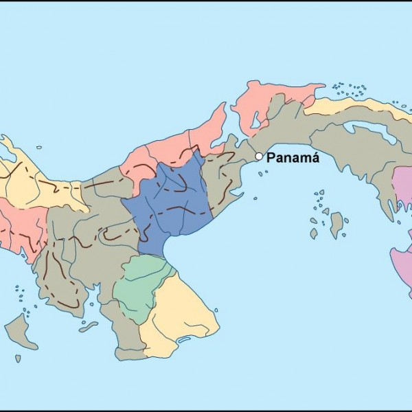 panama vector map