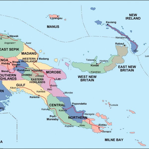 papua new guinea political map