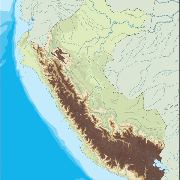 peru illustrator map