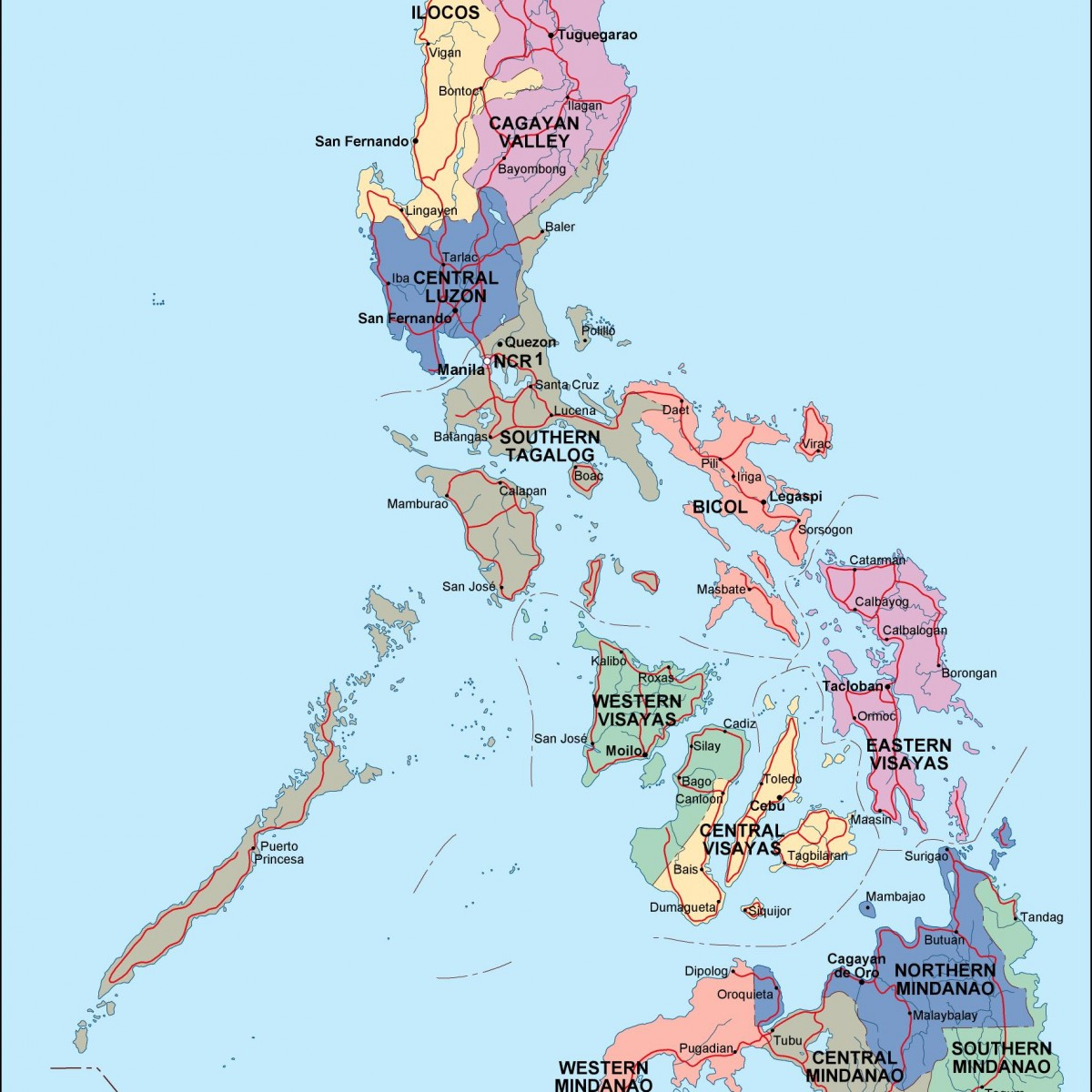 Philippines Political Map Order And Download Philippines - Map philippines