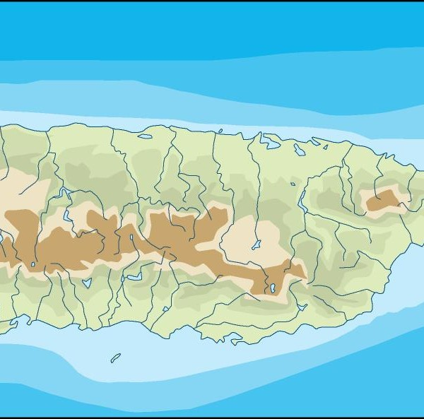 puerto rico illustrator map