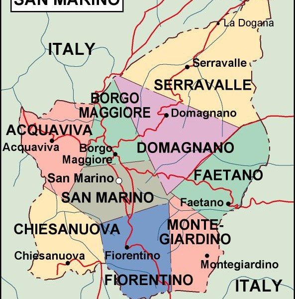 san marino political map