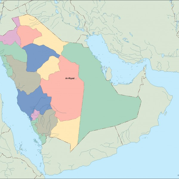 saudi arabia vector map