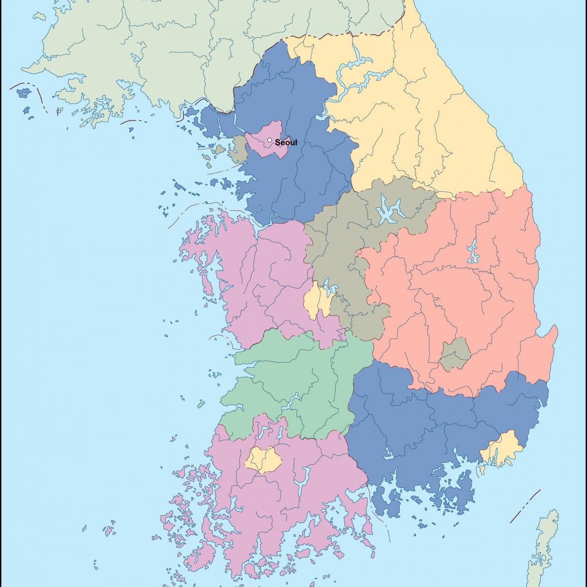 South Korea Vector Map Order And Download South Korea Vector Map - South korea map vector