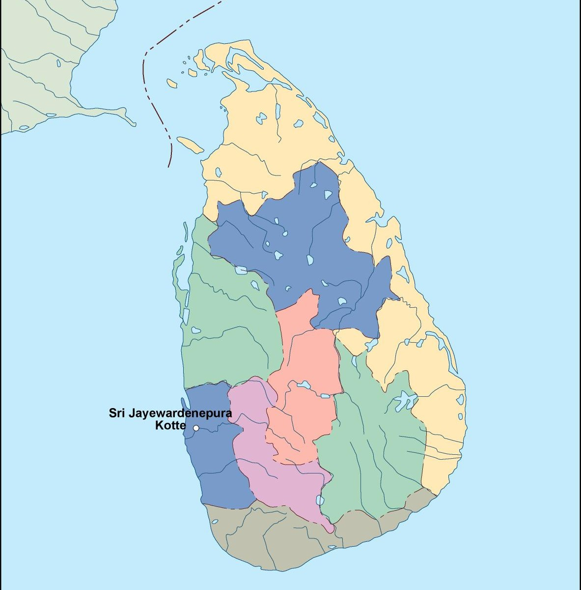 Sri Lanka Political Map.Srilanka Vector Map Order And Download Srilanka Vector Map