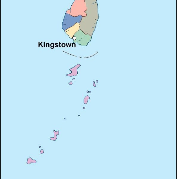 st vincent and the grenadines vector map