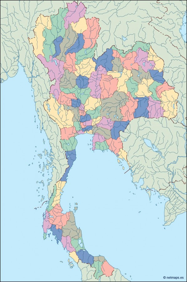thailand blind map Order and Download thailand blind map made