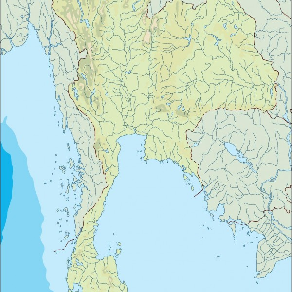 thailand illustrator map