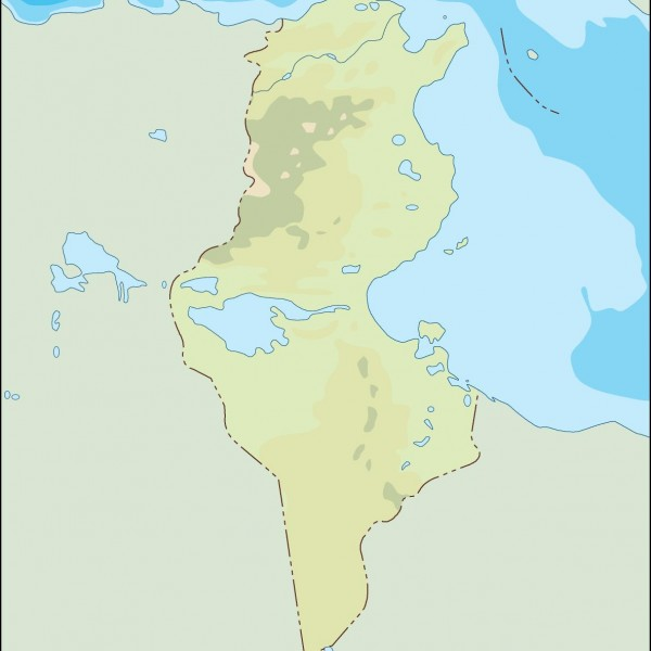 tunisia illustrator map
