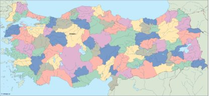 turkey vector map. Illustrator Vector Eps maps | Order and download ...