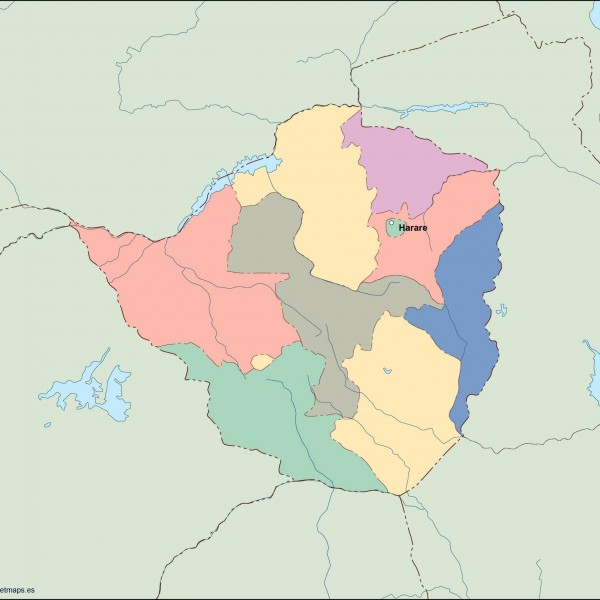 zimbabwe vector map