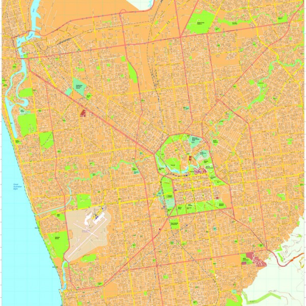 Adelaide Vector Maps