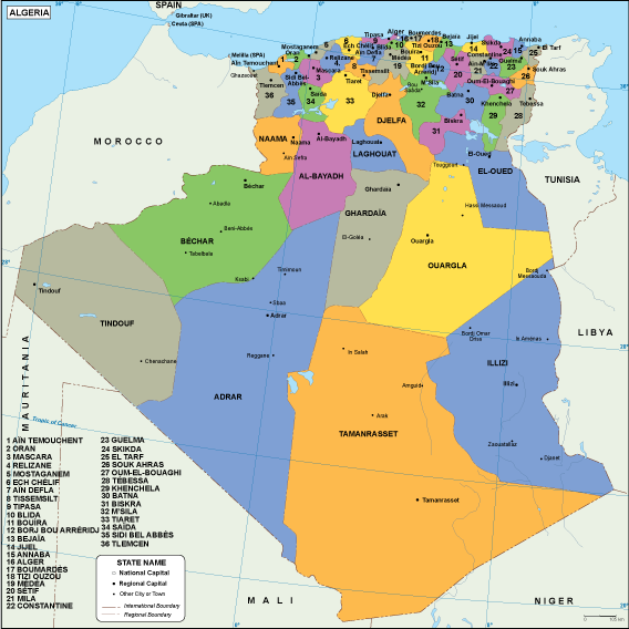 Algeria Vector EPS Maps Download Our Algeria Vector EPS Maps For - Algeria map