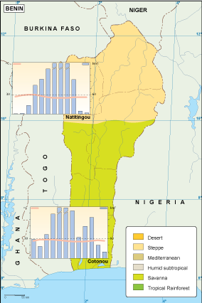 Benin climate map | Order and download Benin climate map