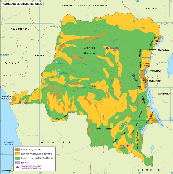 Congo Dem Rep vegetation map
