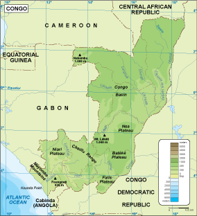 Congo physical map