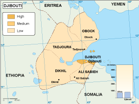 Djibouti economic map