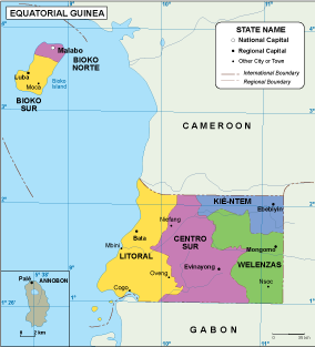 Equatorial Guinea EPS map | Order and download Equatorial Guinea EPS map