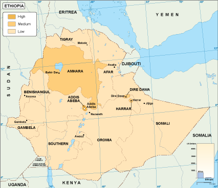 Ethiopia economic map
