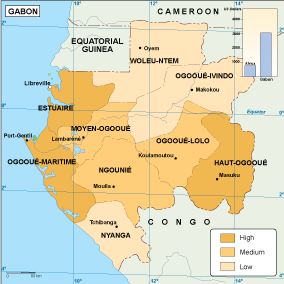 Gabon economic map