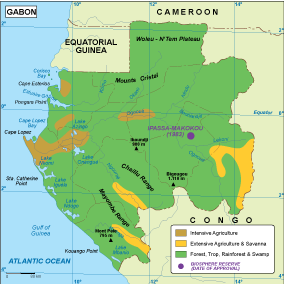 Gabon Vegetation Map Order And Download Gabon Vegetation Map - Gabon map