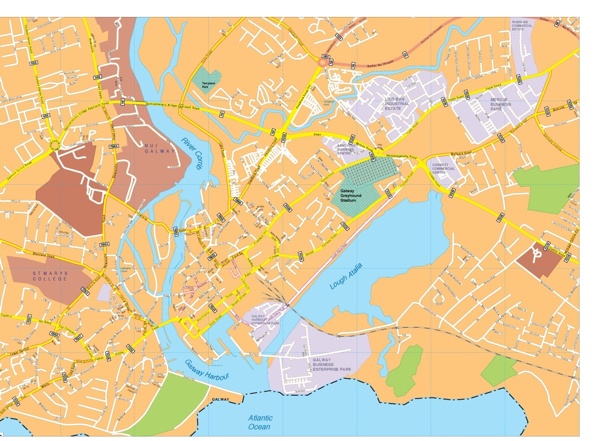 Galway vector map Order and Download Galway vector map made for
