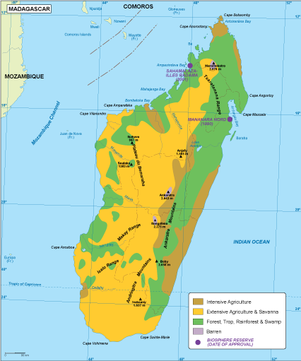 Map Of Africa Vegetation.Madagascar Vegetation Map