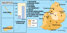 Mauritius economic map