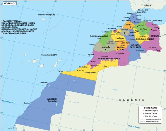 Morocco EPS map