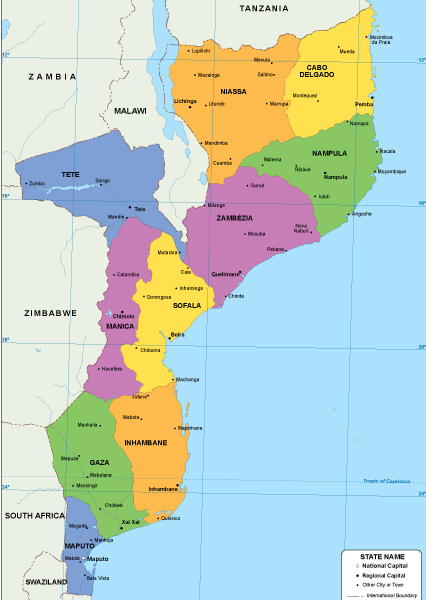 Mozambique EPS map