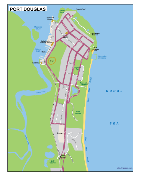 Port Douglas EPS map