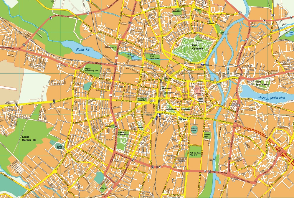 Bialystok EPS map Order and Download Bialystok EPS map made for