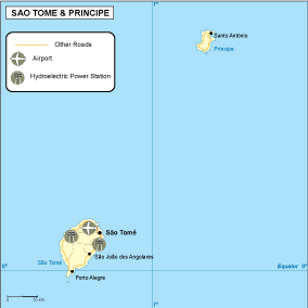 Sao Tome e Principe transportation map