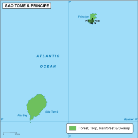 Sao Tome e Principe vegetation map