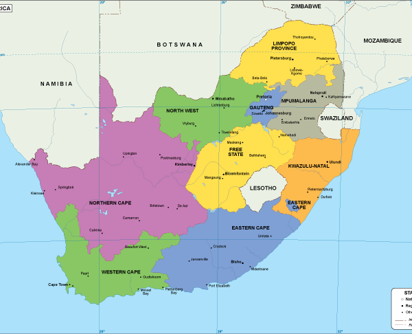 South Afriaca EPS map