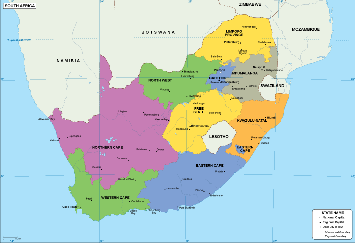 South Africa EPS map