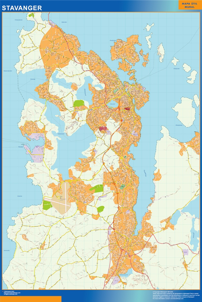 stavanger kart Stavanger kart. Illustrator Vector Eps maps | Order and download