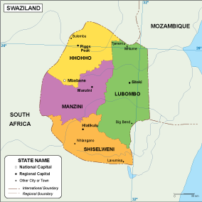 Swaziland EPS map
