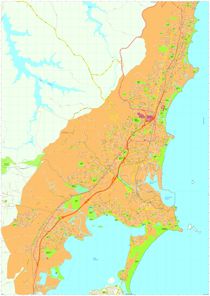 Wollongong Vector Maps Order and Download Wollongong Vector Maps
