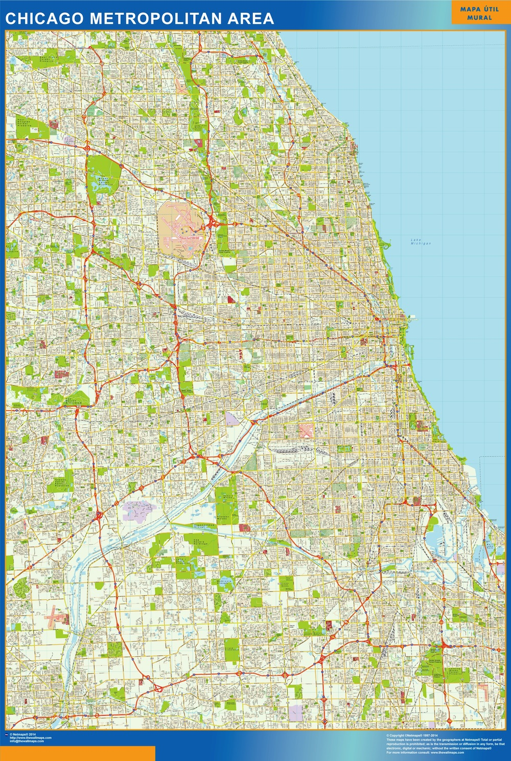 Chicago Map Streets.Chicago Vector Map Eps Illustrator Vector City Maps Usa America