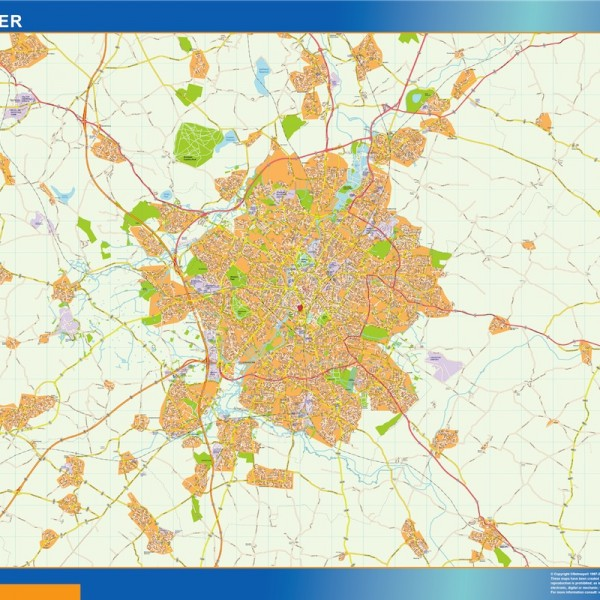 leicester vector map