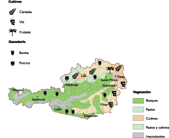 Austria Agricultural map