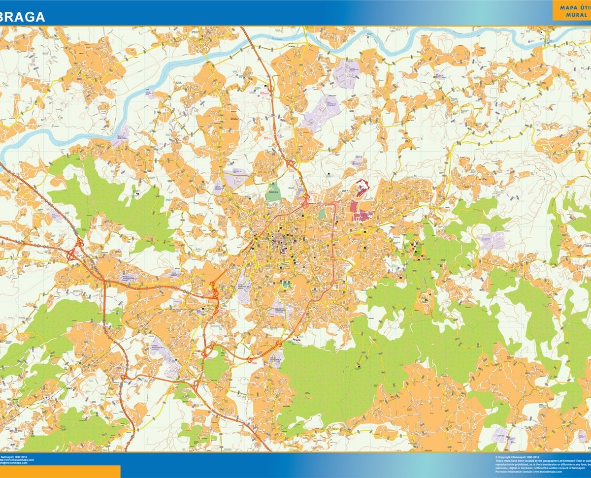 Braga vector map Order and Download Braga vector map made for our