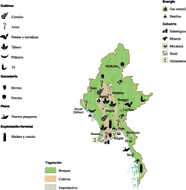 Burma Economic Map Order And Download Burma Economic Map Made - Burma map download