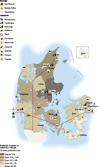 Denmark Economic map