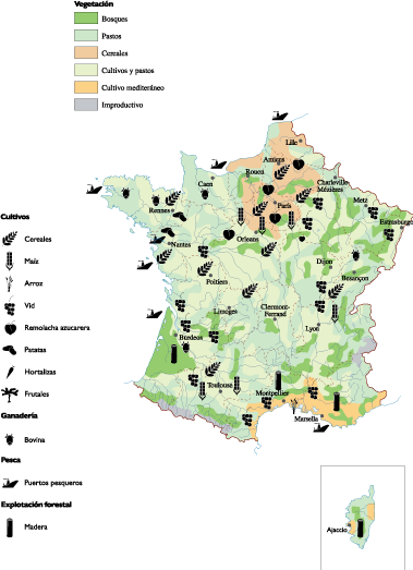 France Agricultural map